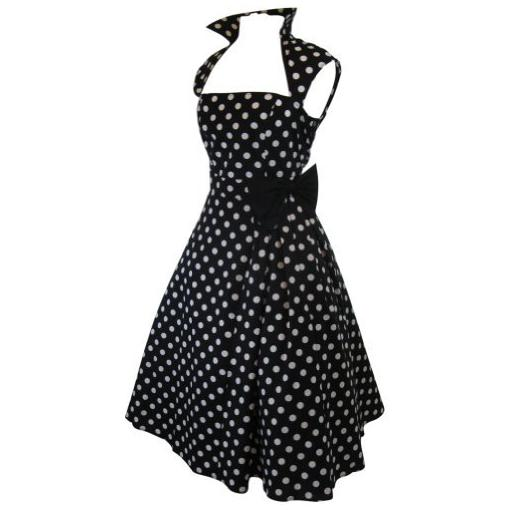 1198-Skelapparel-Vintage-Design-Polka-Dot-High-Collar-Swing-Dress-for-Women-2